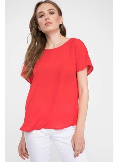 DeFacto Krep Bluz Kırmızı